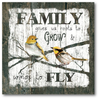 Family Fly Canvas Art