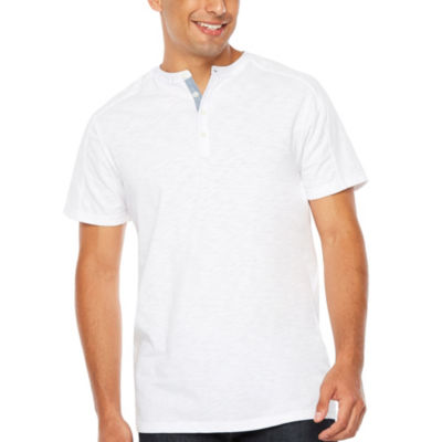 Society Of Threads Short Sleeve Henley Shirt