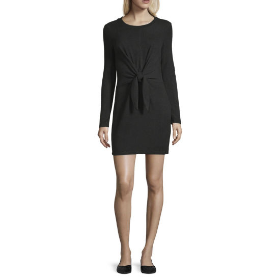 by&by Long Sleeve Sweater Dress-Juniors