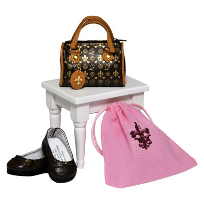 The Queen's Treasures Designer TQT Purse & Shoes for 18 Inch Doll