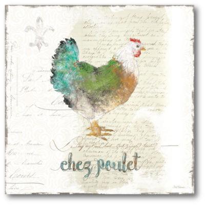 Golden Cuisine Chicken Canvas Art