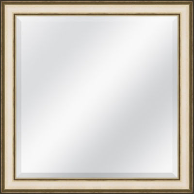 Champagne Speckled Beveled Plate Square Mirror