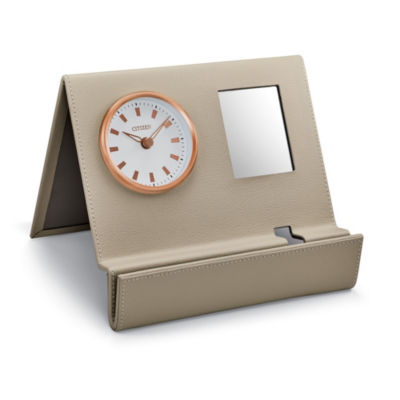 Citizen White Table Clock-Cc1018