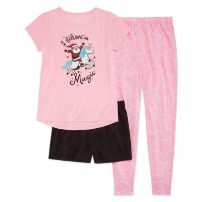 Arizona 3pc Santa Magic Pajama Set - Girls 4-16 & Plus