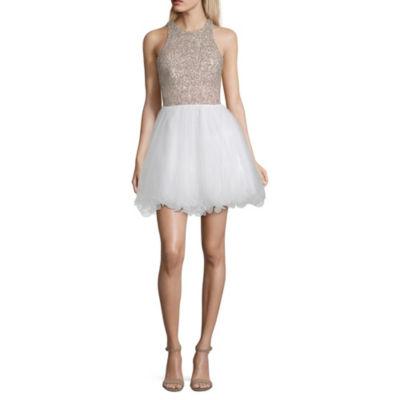 Speechless Sleeveless Fit & Flare Dress-Juniors