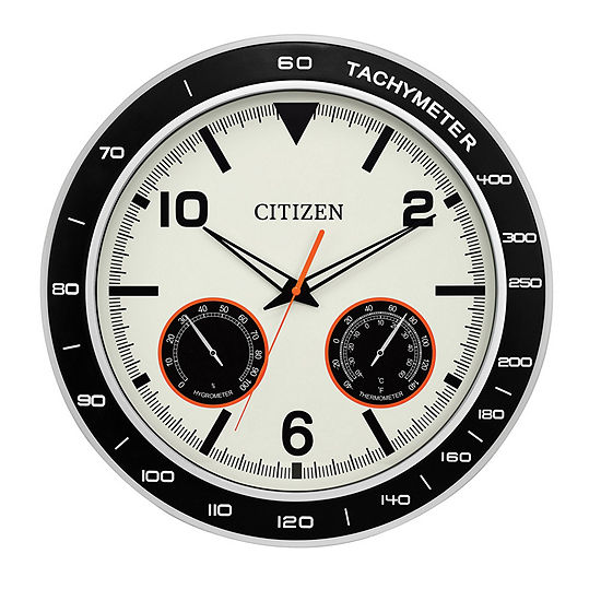 Citizen Outdoor Water Resistant Cream Wall Clock Cc2019