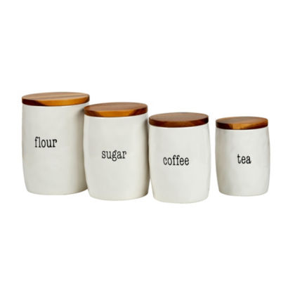 Certified International Just Words 4-pc. Canister