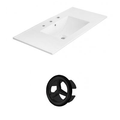 35.5-in. W 3H8-in. Ceramic Top Set In White Color