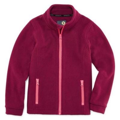 Xersion Fleece Lightweight Jacket-Big Kid Girls
