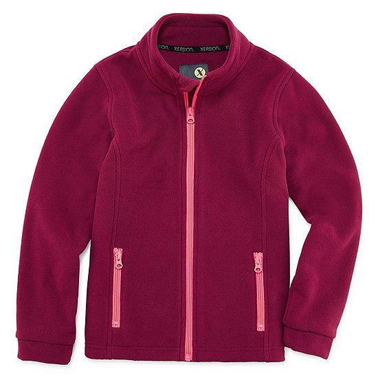 Xersion Girls Fleece Lightweight Jacket Preschool / Big Kid