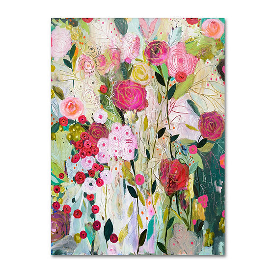 Trademark Fine Art Carrie Schmitt Wild Rose Giclee Canvas Art