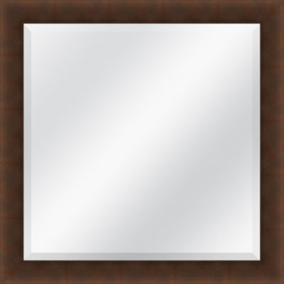 Brown Beveled Plate Square Mirror