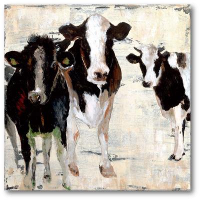 Black & White Cow Canvas Art