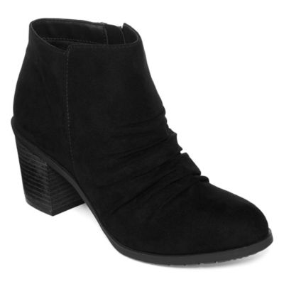 Arizona Womens Oakes Booties Block Heel Zip