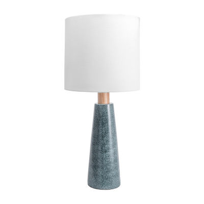 "Watch Hill 29"" Florence Ceramic & Wood Linen Shade Table Lamp"