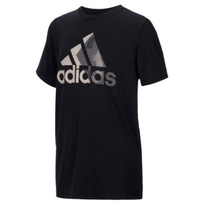 adidas Boys Crew Neck Short Sleeve Graphic T-Shirt
