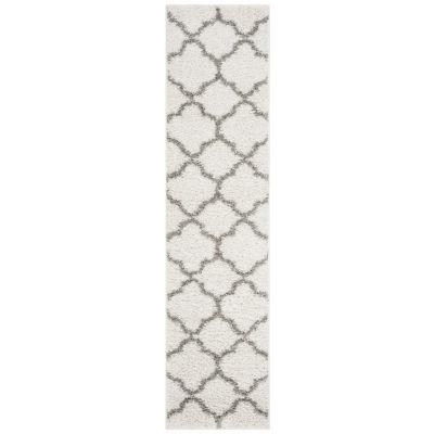 Safavieh New York Shag Collection Aria Geometric Runner Rug