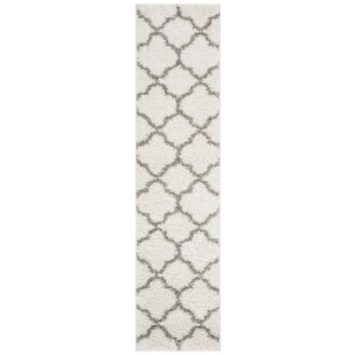 Safavieh New York Shag Collection Aria Geometric Runner Rug