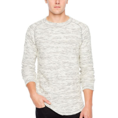 JF J.Ferrar Mens Crew Neck Long Sleeve Sweatshirt