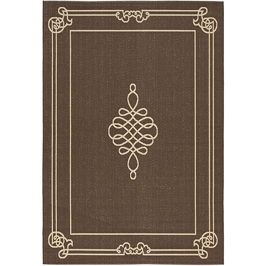 Safavieh Courtyard Collection Keane Oriental Indoor/Outdoor Area Rug