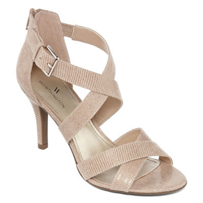 Worthington Womens Cari Heeled Sandals