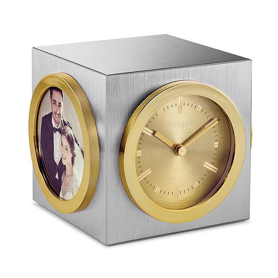 Citizen Custom Engravable Plaque Gold Tone Mantel Clock Cc1019