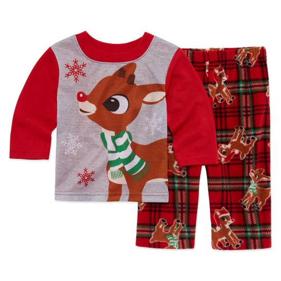 Rudolph The Red Nose Reindeer 2 Piece Pajama Set -Baby Unisex