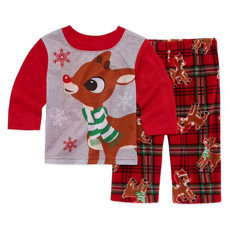 Rudolph The Red Nose Reindeer 2 Piece Pajama Set -Baby Unisex, Size 24 Months