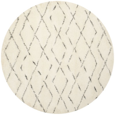 Safavieh Casablanca Collection Alayna Geometric Round Area Rug