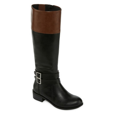 Arizona Womens Denmark Riding Block Heel Zip Boots