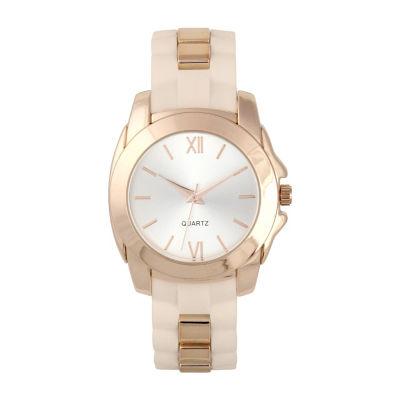 Mixit Womens Brown Strap Watch-Pt5472rgtn