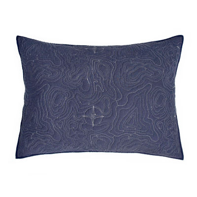 IZOD Ocean Map Pillow Sham