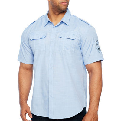 Ecko Unltd Short Sleeve Button-Front Shirt-Big and Tall