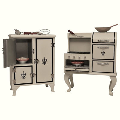 The Queen's Treasures Vintage Kitchen Furniture for 18 Inch Dolls