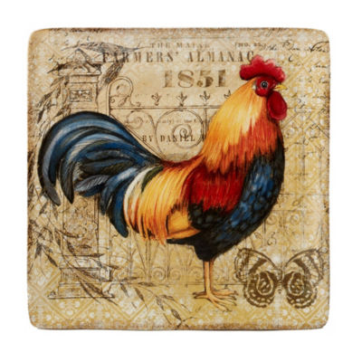 Certified International Gilded Rooster Serving Platter