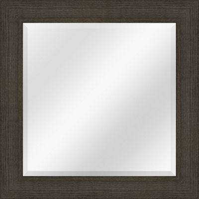 Distressed Grey Beveled Plate Square Mirror