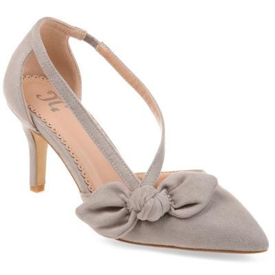 Journee Collection Womens Jc Jilli Pumps Slip-on Pointed Toe Stiletto Heel