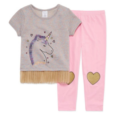 Okie Dokie Legging Set-Toddler Girls