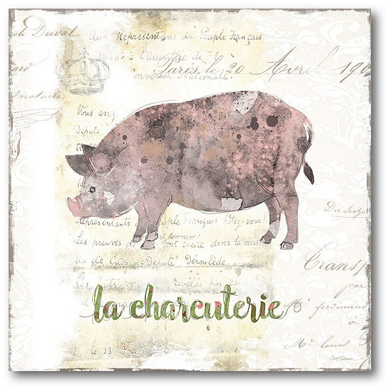 Courtside Market Golden Cuisine Pig Canvas Art
