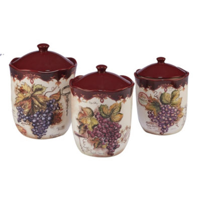 Certified International Vintners Journal 3-pc. Canister