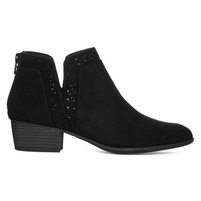 Arizona Womens Gabie Booties Block Heel Zip
