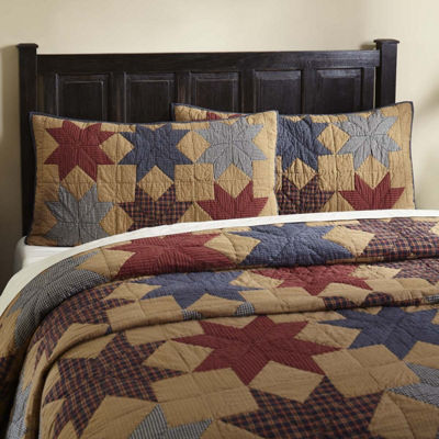 VHC Classic Country Primitive Bedding - Kindred Star Sham