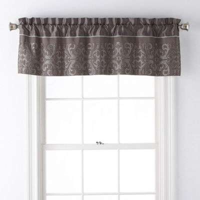 JCPenney Home Nicholai Rod-Pocket Tailored Valance