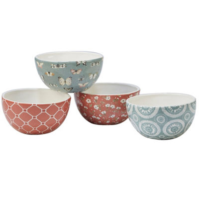 Certified International Country Weekend 4-pc. Ice Cream Bowl