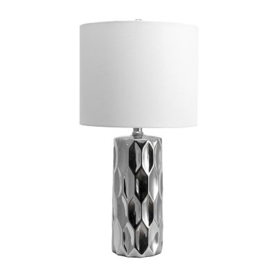 "Watch Hill 22"" Oriana Ceramic Linen Shade Table Lamp"