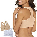 Hanes Get Cozy Pullover Comfortflex Fit® 2-Pack Wireless Racerback Unlined Full Coverage Bra-Dhhb39