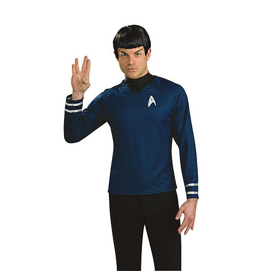 Star Trek Mens Spock Wig With Ears Dress Up Accessory