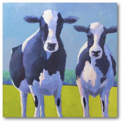 Cow Pals II Canvas Art