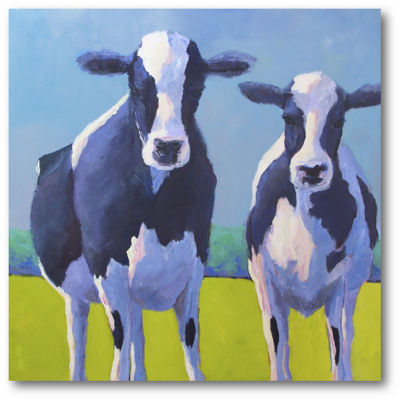 Cow Pals II Canvas Art