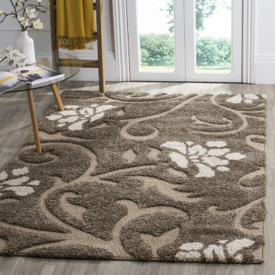Safavieh Shag Collection Brock Floral Square Area Rug